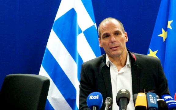Grieks minister van Financiën Yanis Varoufakis