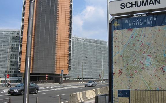 Het Berlaymont-gebouw, basis van de Europese Commissie, waar lobbyisten kind aan huis zijn