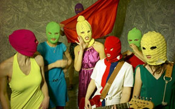 Pussy Riot bij een vorige actie
