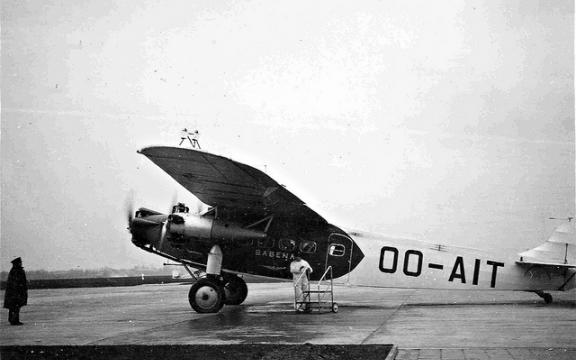 Een Sabena-toestel uit 1923