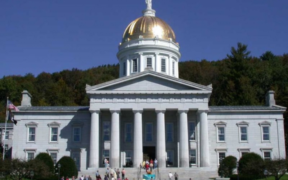 Vermont State House in de hoofdstad Montpelier