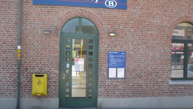 Het station van Gouvy op de lijn Luik-Luxemburg
