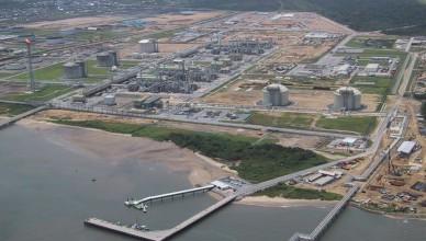 Een LNG-installatie in Nigeria