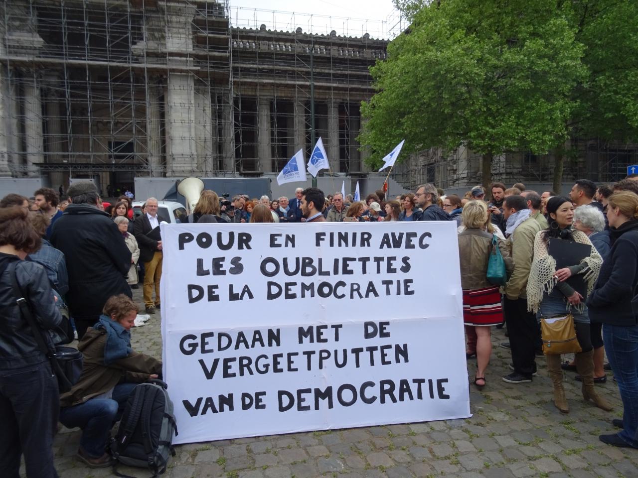 Actie op het Poelaertplein te Brussel