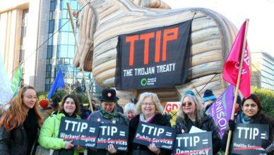 TTIP-protesten nemen toe