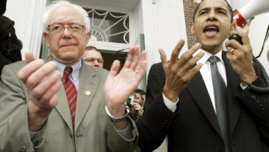 In 2006 kwam kersvers federaal senator Barack Obama campagne voeren in Vermont voor onafhankelijk lid van de Kamer Bernie Sanders, die toen een eerste gooi deed naar een zetel in de federale Senaat (mic.com)