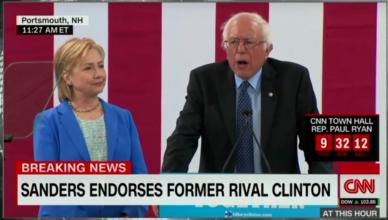 Bernie Sanders endorses Hillary Clinton