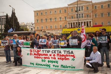 Anti-TTIP-protest in Athene