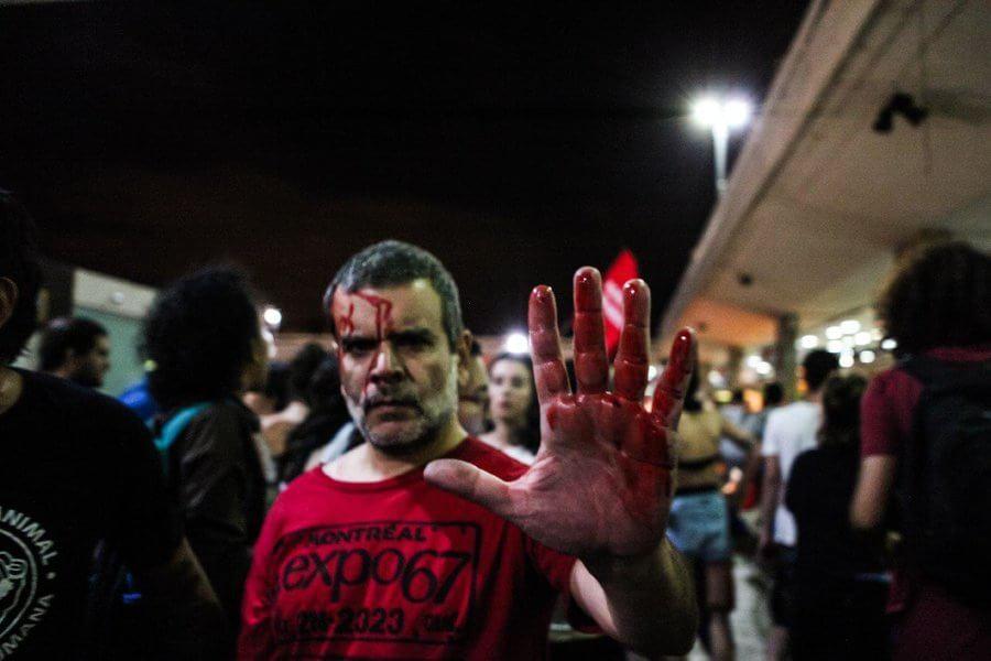 Harde aanpak van de betogingen door de politie