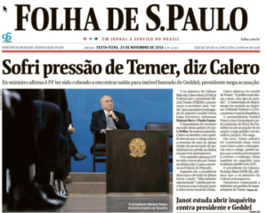 'Ik stond onder druk van Temer, zegt Calero'