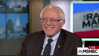 Bernie Sanders in de Rachel Maddow Show van MSNBC
