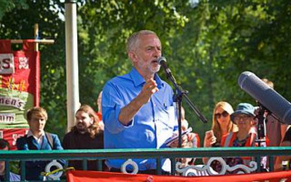 Jeremy Corbyn tijdens de voorbije verkiezingscampagne