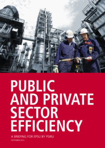 Public and Private Sector Efficiency