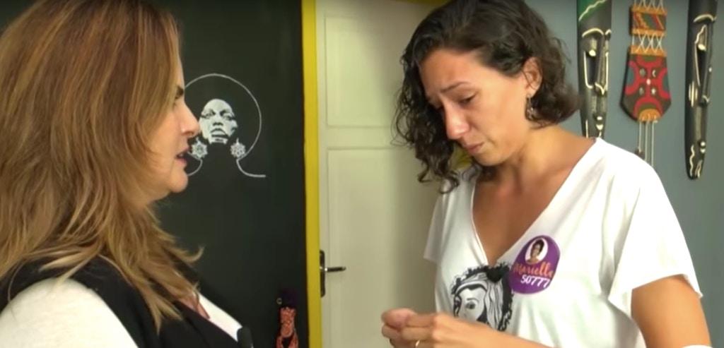 nterview van zender Rede Globo met Monica Tereza Benicio, echtgenote van Marielle Franco