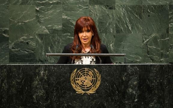 President Cristina Fernandez de Kirchner, 24 september 2014