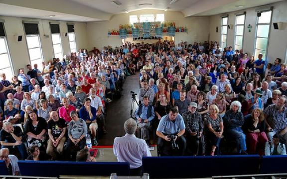 Jeremy Corbyn op 2 augustus 2015 in Glasgow