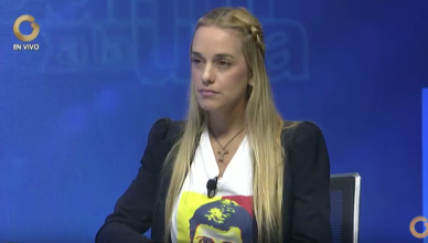 Lilian Tintori live op de Venezolaanse zender Venevision